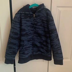 4/$15 Children's Place blue hooded Sherpa jacket